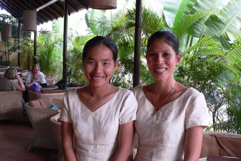 Two Happy Ladies in Cambodia