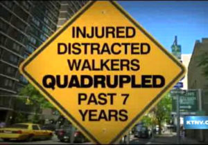 Sign for Distracted Walkers